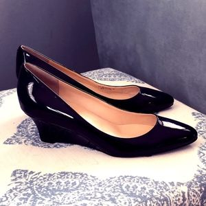Cole Haan Black Patent Leather Wedges - 10B
